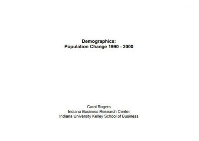Demographics: Population Change 1990 – 2000