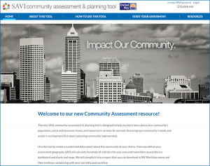 SAVI Community Assessment & Planning Tool Home Page