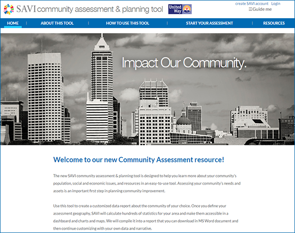 SAVI Community Assessment and Planning Tool