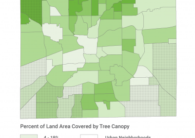 How Does Tree Coverage Relate to Built and Natural Environment?