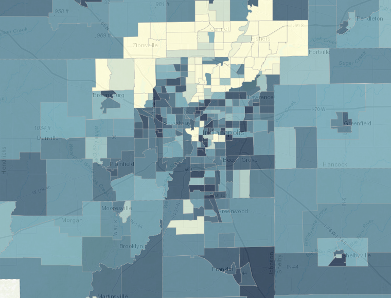 Map of Segregation by Educational Attainment