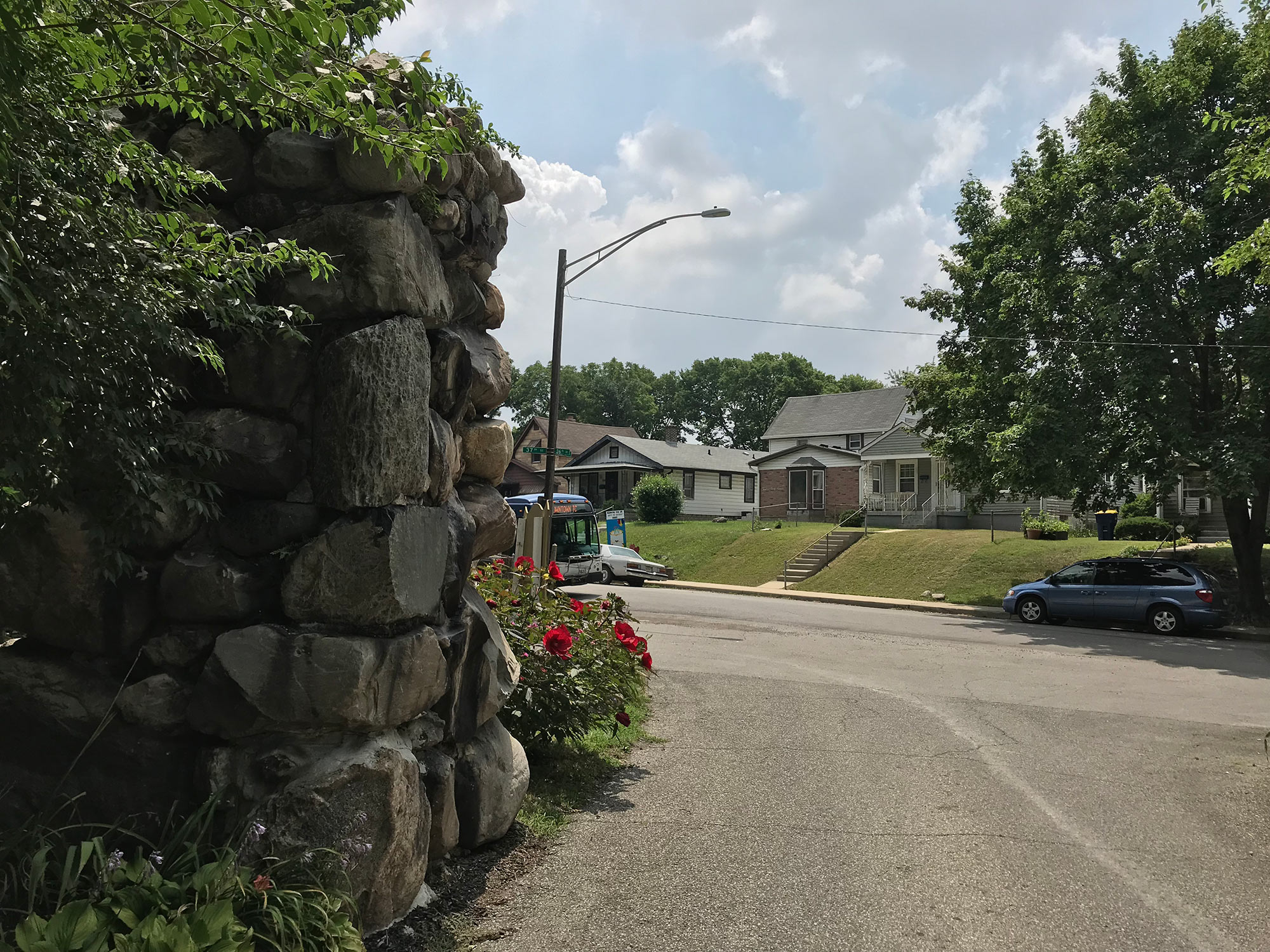 View of 37th Street Through Gates of Golden Hill