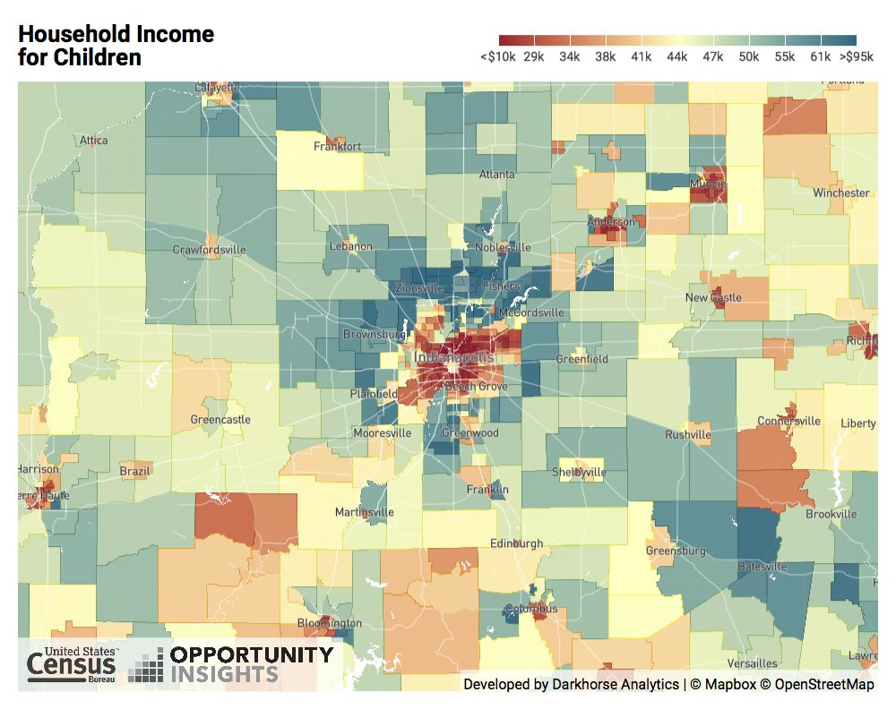 What Can The Opportunity Atlas Tell Us About Indianapolis Savi - Indianapolis-in-us-map