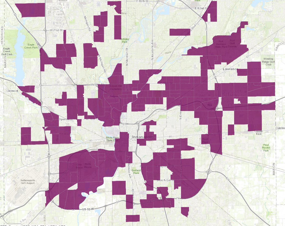 Food Deserts in Indianapolis