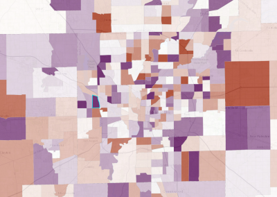 Indy Neighborhoods with Fastest Changing Income Diversity