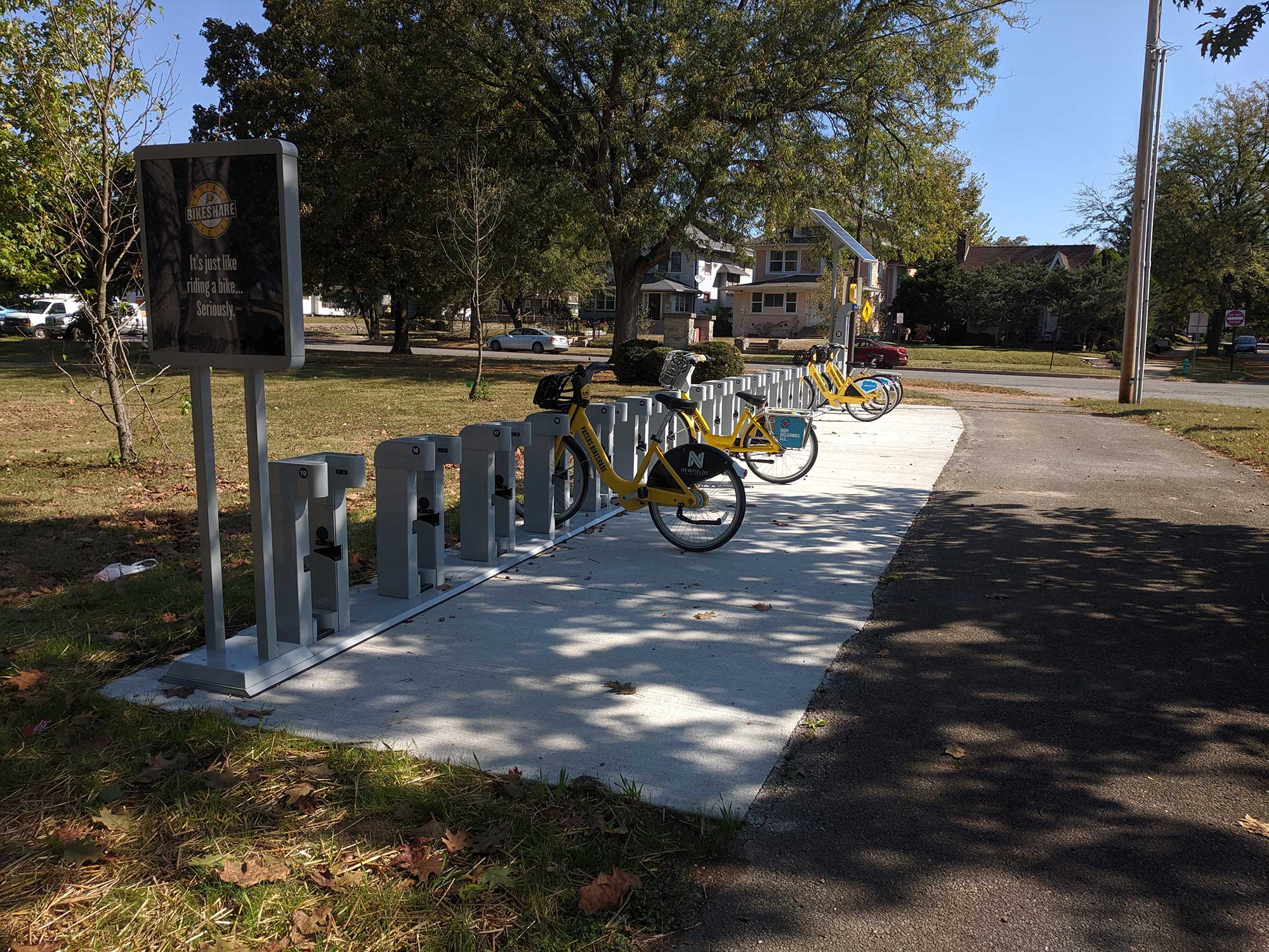 Pacers Bikeshare Riverside Station