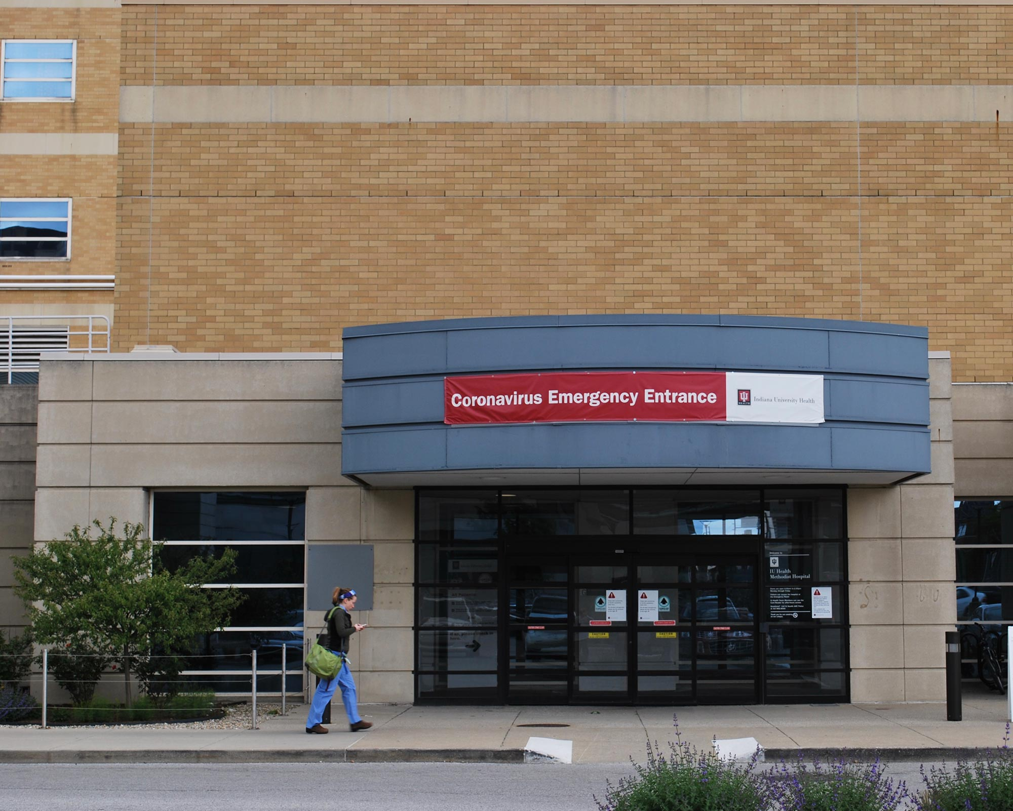 COVID-19 emergency room at IU health