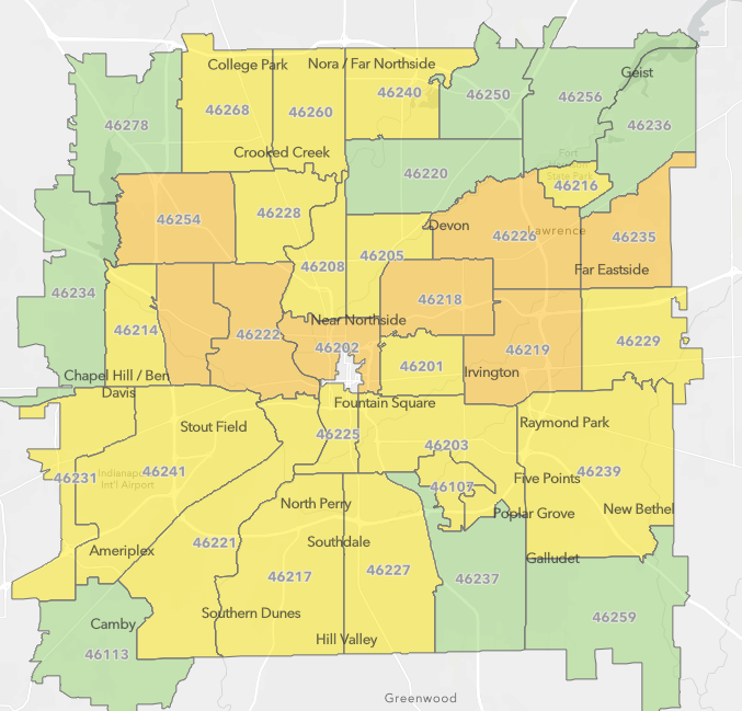 A map showing the impact of the pandemic on ZIP codes