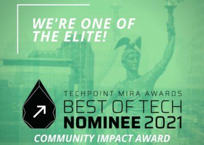 Polis Center nominated for TechPoint Mira Award Community Impact award